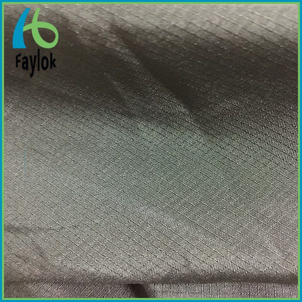 polyester check/rip-stop/dobby downjacket fabric