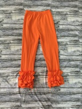 Boutique Baby Icing Legging Casual Girls Ruffled Pants