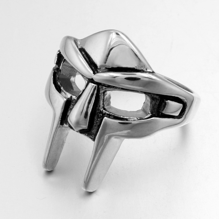 European and American fashion, men's stainless steel ring, and punk mask superman accessories wholesale YSS733