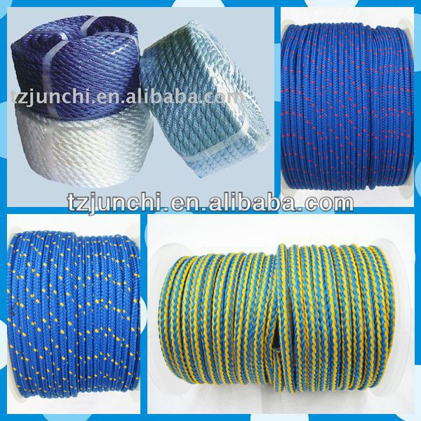 Good quality PE/3-Strand twisted paper rope