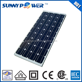 New design 156x156mm cell 150w monocrystalline solar panel wholesale