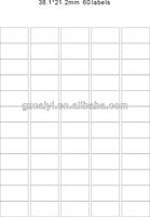 A4 shipping label Self Adhesive White Address Label 38.1x21.2mm