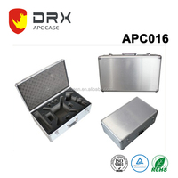 DRX Large Case Camera Gun Carrying Travel Hard Aluminum Metal Briefcase