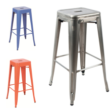 chinese modern brushed metal bar stools galvanized metal bar stool