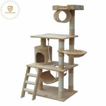 Variety Styles Wooden Cardboard Cat House Indoor Tree Pet Playing Toy