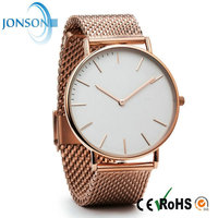 2015 Minimalist 42x6mm stainless steel back quartz quality watches minimalist watch band mesh