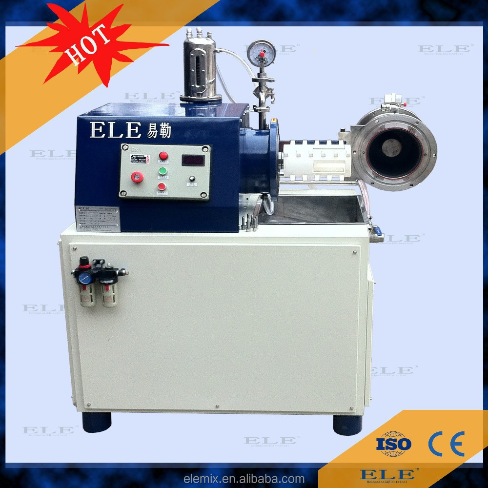 ELE nano solvent-based paint horizontal grinding bead mill machine