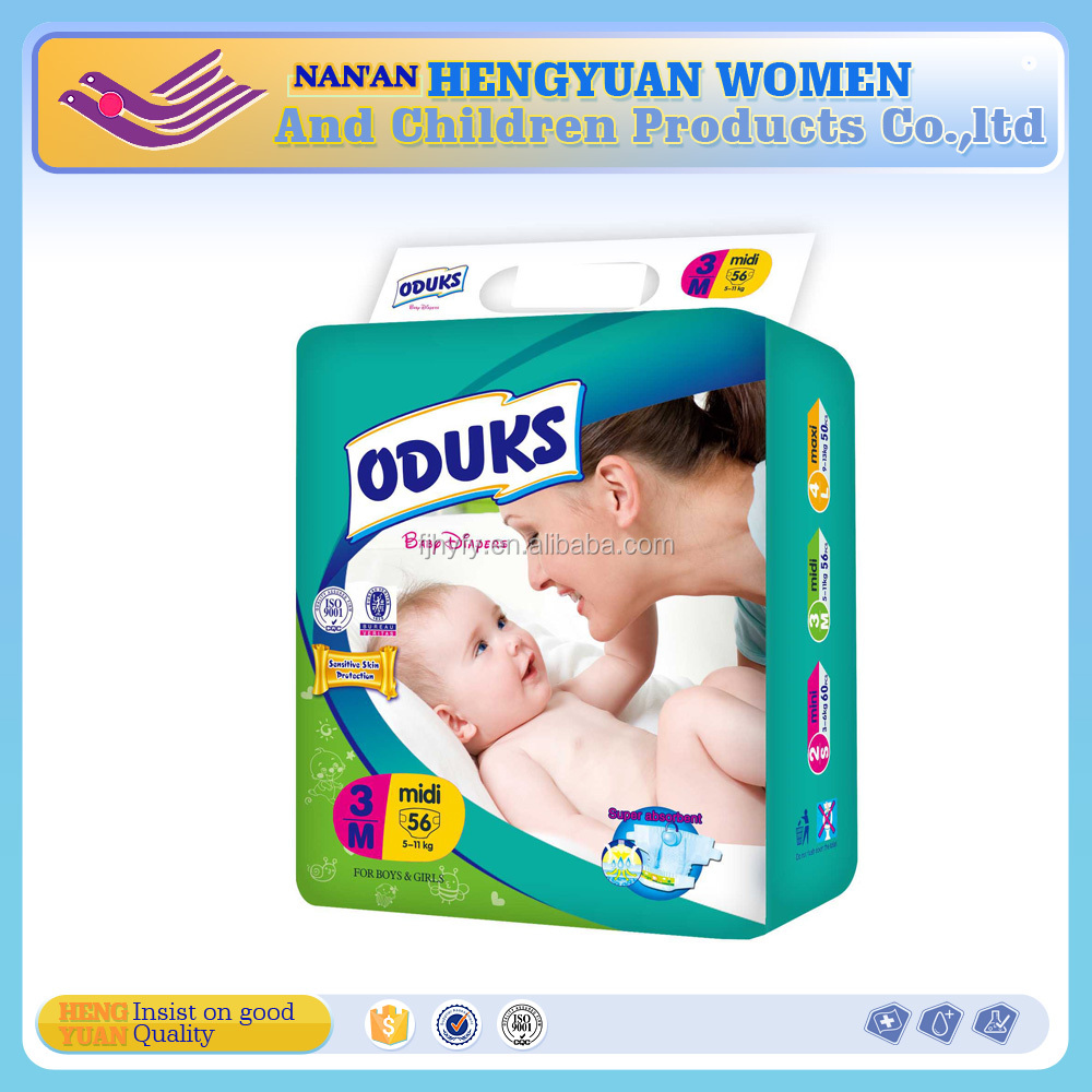 Ultra thin European quality baby diapers