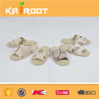 summer natural linen new models slippers sandals for men