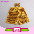 Summer Shiny Baby Girl Gold Sequin Shorts Little Girls Sparkling Shorts Newborn Baby Sequin Short Wedding Pants