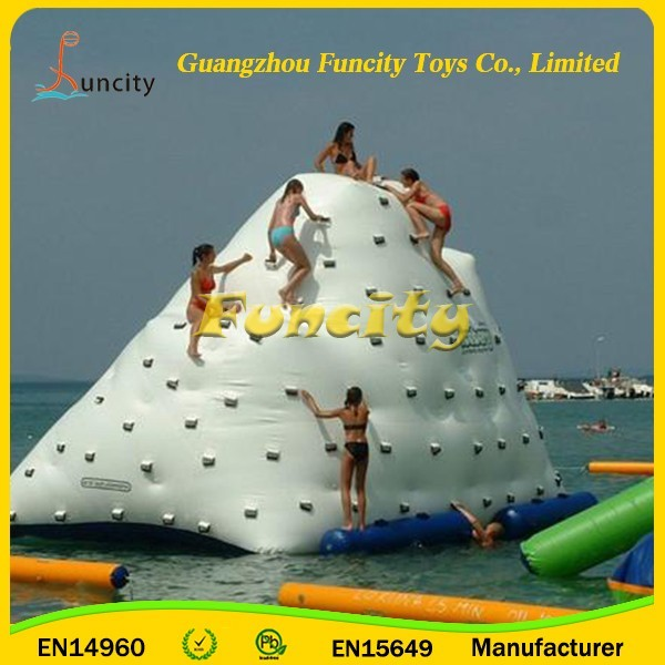 EN 15649 Inflatable Floating Water Toy/ Gaint Inflatable Iceberg on Pool/ Lake/ Seashore