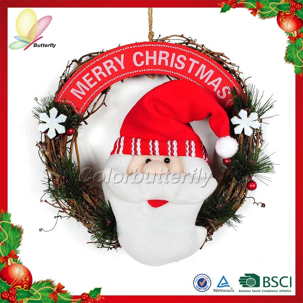 2015 China manufacturer decorative door wreath hanger decorative wreath for front door