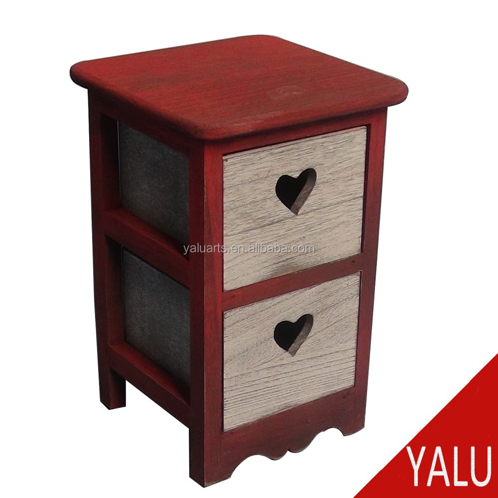 Unique antique style wood nightstands wood bedroom furniture H-15444
