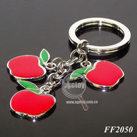 Apple Shaped Metal Key Chain