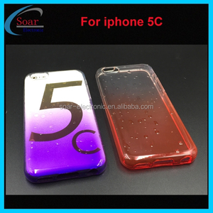 3D water drop pattern tpu case for iphone 5c,shade color tpu case for iphone 5c,jelly gel case for iphone 5c