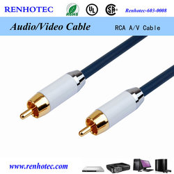 Gold Plated RCA Cable RCA to RCA M/M with Factory Price