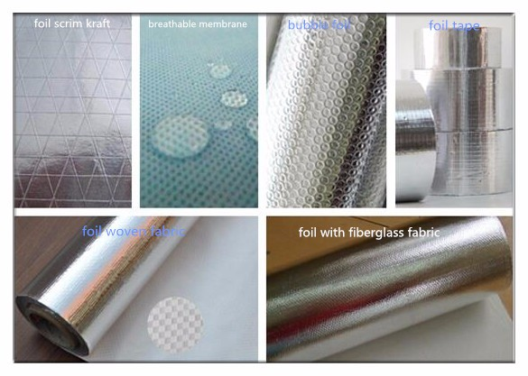 high quality foil woven cloth for flexible fireproof fiberglass material