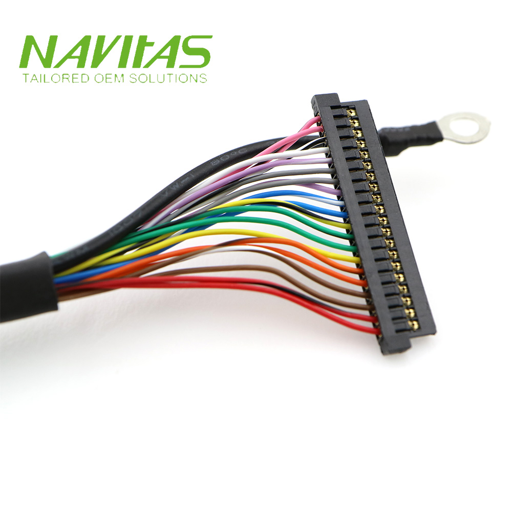 JAE Female Socket Connector Heat-Shrink Tubing 28 awg with PVC Tube LVDS Cable