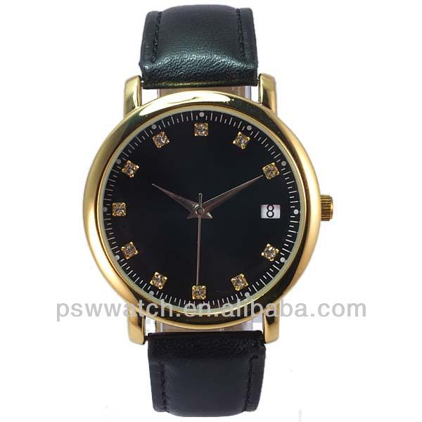 gold color custom high quality present mens wrist