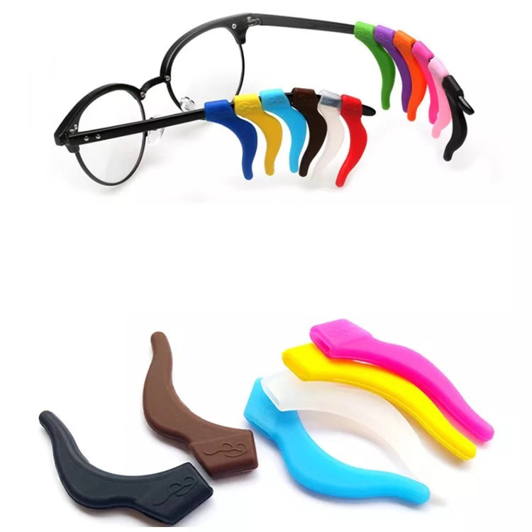 wholesale glasses ear hook, anti slip silicone temple tips, comfortable soft glasses tips silicone