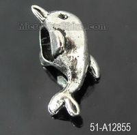 Custom dolphin antique silver charms