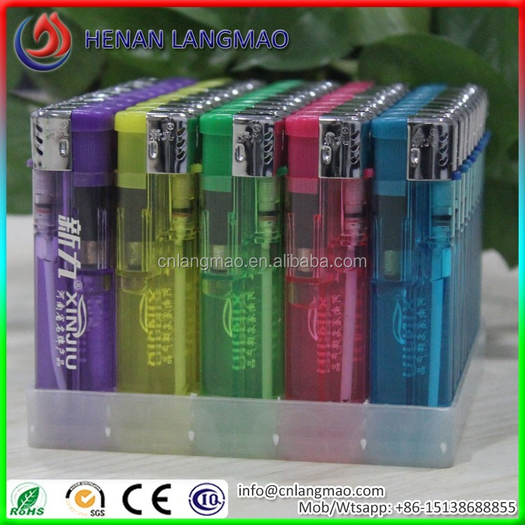 Nickel cap translucent spark gas lighter
