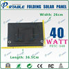 Newest design and fashionable portable 40W monocrystalline competitive solar cell price