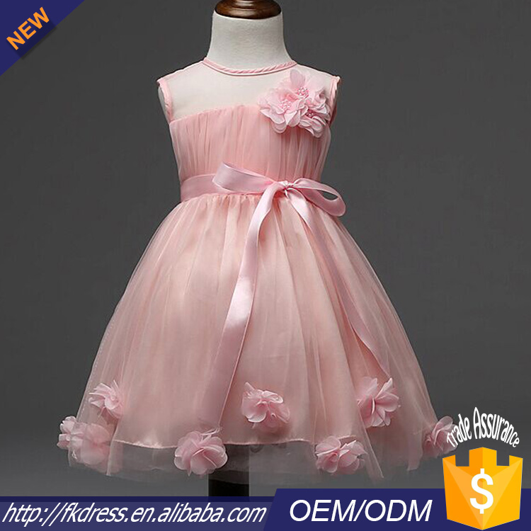 guangzhou wholesale vintage flower girl net dresses of 5yrs old