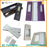 Good Quality Paper Packaging Hair Extension Box Wholesale With Clear Window