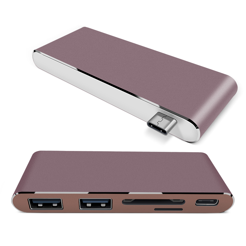 high quality multi port usb c Hub with card reader for macbook pro