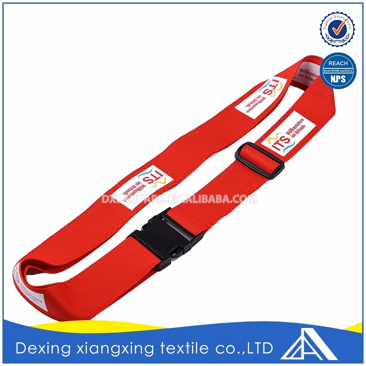 Design oem flexible red top quality airport rope luggage fasten belt for sale