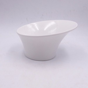 New design unique white color melamine salad bowl