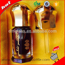 3ml 6ml 12ml octagonal perfume oil/attar bottle wholesale crystal perfume bottles with glass stick