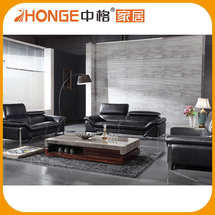 Top China Furniture Modern Household 100% Top Grain Pure Leather Sofa Set 3 2 1 Seat