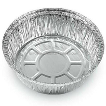 Supply aluminium foil container disposable round aluminium foil pan full size aluminium foil food baking tray