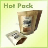tea bag packing material / kraft brown paper bag with window
