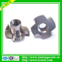 Alibaba Furniture nuts/T nuts with four prongs