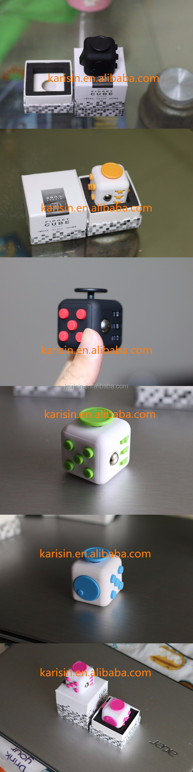 Customized Logo camo fidget cube relieves stress cub for Kids & Adults