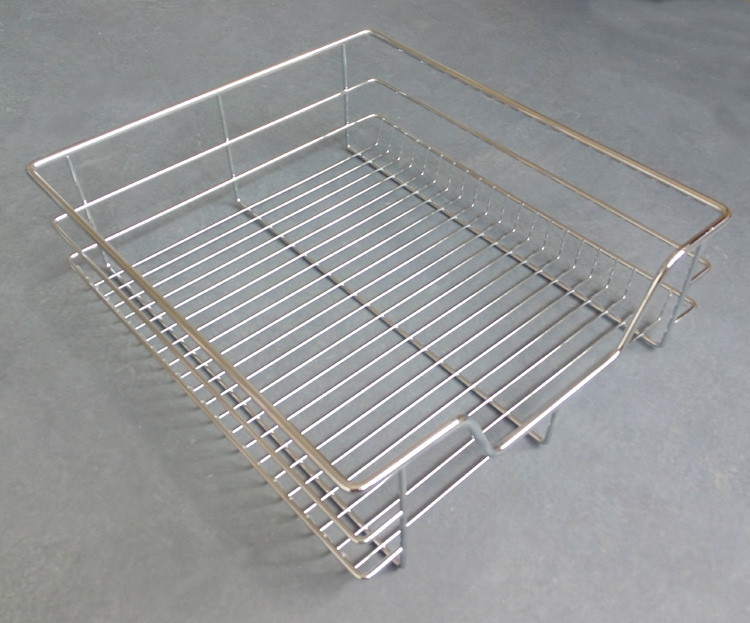 Home kitchen drawer stainless steel wire mesh storage basket organizer