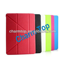 2013 Wholesale Transformable Stand Leather Case for ipad air