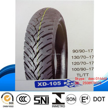 2015 good new fashion pattern high quality low price cheap TT&TL autocycle motorcycle tyre 100/90-17