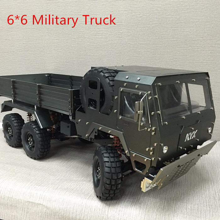 kyx rc 6*6 military truck Jeep SCX10 Chassis modified car