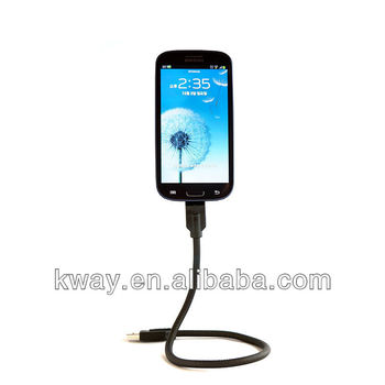 Flexible Mount USB Cable For Samsung Galaxy LG Optimus Android Phone KCA068