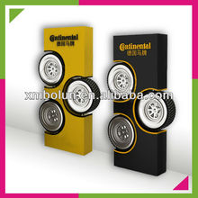 Top quality durable iron tire display stand