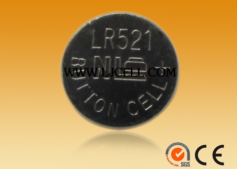 1.5V Zn/MnO2 alkaline button cell battery AG0 LR521