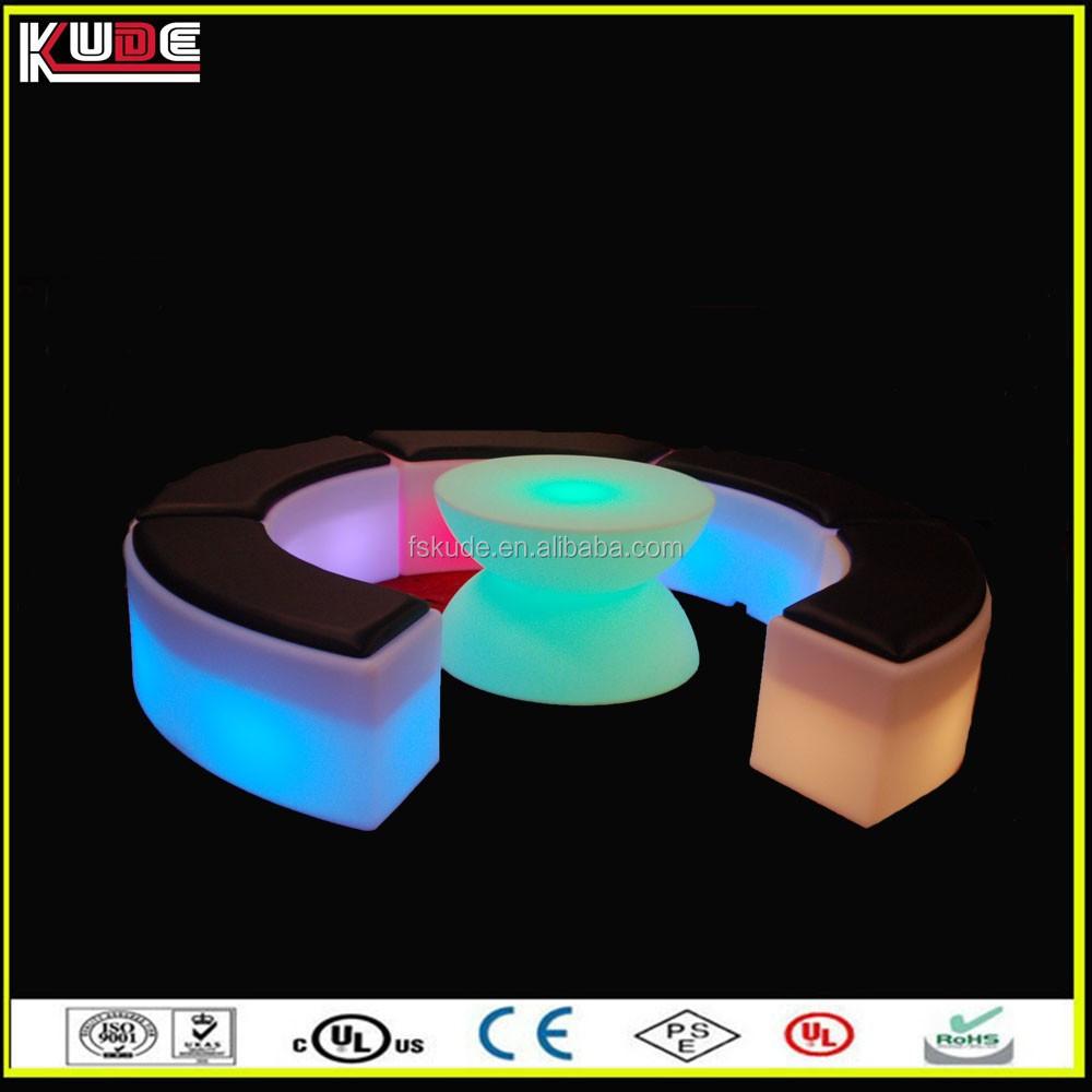 Fashional Led Light Up Bar Stool Seats With Cushion Buy