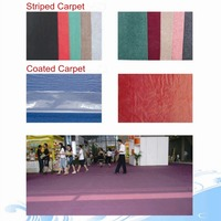 Outdoor Cheap Waterproof Colorful Plain Exhibition Floor Carpet Price
