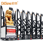 Aluminium electric commercial retractable sliding gate fencing gates for importers QG-L1728