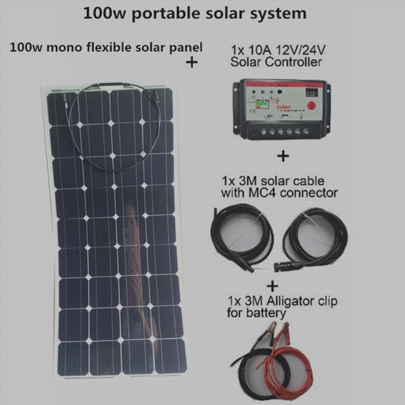 High frequency home use 100w solar system solar panel 100w flexible With Ce And Iso9001