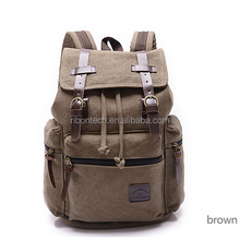 name brand vintage waterproof male canvas backpack